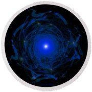 1138 -  Travelling To The Light Round Beach Towel
