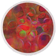 1153 Abstract Thought Round Beach Towel