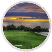 11th Green - Trump National Golf Course Round Beach Towel