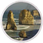 12 Apostles #4 Round Beach Towel by Stuart Litoff