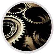 Cogs Round Beach Towel