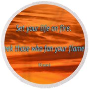 120- Rumi Round Beach Towel