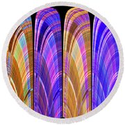 1260 Abstract Thought Round Beach Towel