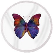 13 Narcissus Butterfly Round Beach Towel