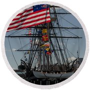 Round Beach Towel featuring the photograph 13 Stars by Mike Ste Marie