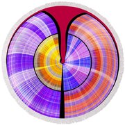 1330 Abstract Thought Round Beach Towel