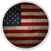 American Flag 56 Round Beach Towel