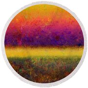 1395 Abstract Thought Round Beach Towel