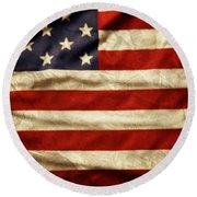 American Flag 59 Round Beach Towel
