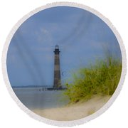 Wood View Round Beach Towel
