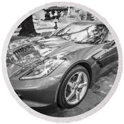2014 Chevrolet Corvette C7 Bw   Round Beach Towel