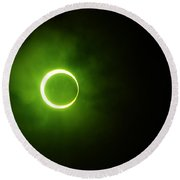 15 January 2010 Solar Eclipse Maldives Round Beach Towel