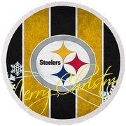 Pittsburgh Steelers Round Beach Towel
