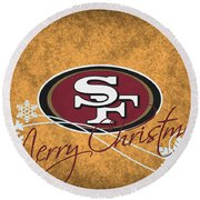 San Francisco 49ers Round Beach Towel