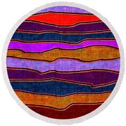 1536 Abstract Thought Round Beach Towel