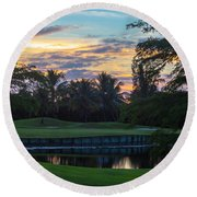 15th Green At Hollybrook Round Beach Towel