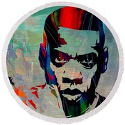 Jay Z Round Beach Towel by Marvin Blaine