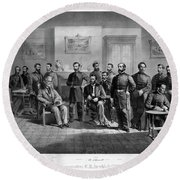 Lee's Surrender, 1865 Round Beach Towel