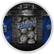 Los Angeles Dodgers Round Beach Towel