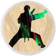 Martial Arts Karate Round Beach Towel