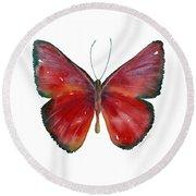 16 Mesene Rubella Butterfly Round Beach Towel