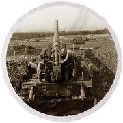 175mm Self Propelled Gun C 10 7-15th Field Artillery Vietnam 1968 Round Beach Towel