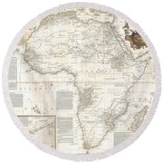 1787 Boulton  Sayer Wall Map Of Africa Round Beach Towel