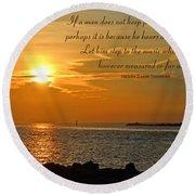 180- Henry David Thoreau Round Beach Towel