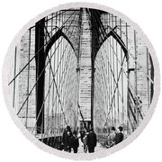 1800s 1880s Men Standing On Brooklyn Round Beach Towel