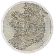 1804 Jeffreys And Kitchin Map Of Ireland Round Beach Towel