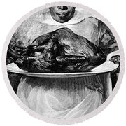 1880s Illustration Of African American Round Beach Towel