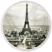 1889 Parisian Panorama Round Beach Towel by Historic Image