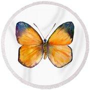 19 Delias Anuna Butterfly Round Beach Towel