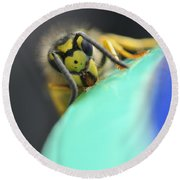 Round Beach Towel featuring the photograph Fine Art by Jenny Potter