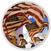 1900s 1904 Drawing By Maxfield Parrish Round Beach Towel