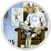 1902 - Columbia University Sports Poster - Color Round Beach Towel