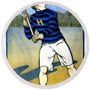 1905 - Johns Hopkins University Lacrosse Poster - Color Round Beach Towel