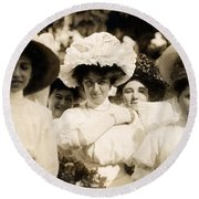 1908 Fashionable Ladies Of Trieste Round Beach Towel by Historic Image