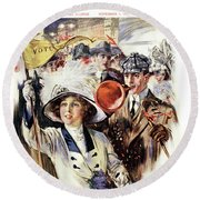 1910s 1912 Cover Sunday Magazine Round Beach Towel