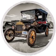 1916 Ford Model T Round Beach Towel