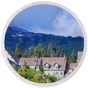 1916 Paradise Inn. Mount Rainier National Park Round Beach Towel