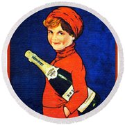 1920 - Freixenet Wines - Advertisement Poster - Color Round Beach Towel