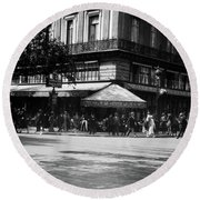 1920s Cafe De La Paix In The Grand Round Beach Towel