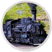 1923 Vintage  Railroad Train Locomotive  Round Beach Towel