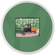 1925 Model T Ford Round Beach Towel