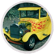 1927 Ford Model T Round Beach Towel