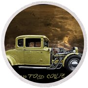 1930 Ford Coupe Round Beach Towel