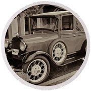 1930 Ford Panel Truck Round Beach Towel