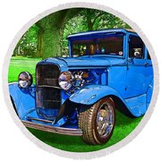 1930 Ford Round Beach Towel