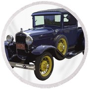 1930 - Model A Ford - Pickup Truck Round Beach Towel